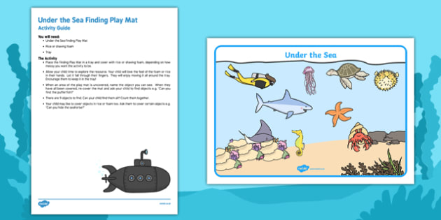 Under the Sea Finding Play Mat Busy Bag Resource Pack for Parents