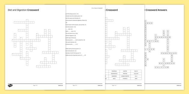 KS3 Diet and Digestion Crossword