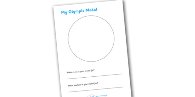 Design An Olympic Medal - Olympics, Olympic Games, design a medal, medals, designing, creative, activity, sports, Olympic, London, images, editable, event, picture, 2012, activity, Olympic torch, medal, Olympic Rings, mascots, flame, compete, events,