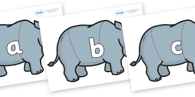 Phase 2 Phonemes on Rhinos - Phonemes, phoneme, Phase 2, Phase two, Foundation, Literacy, Letters and Sounds, DfES, display