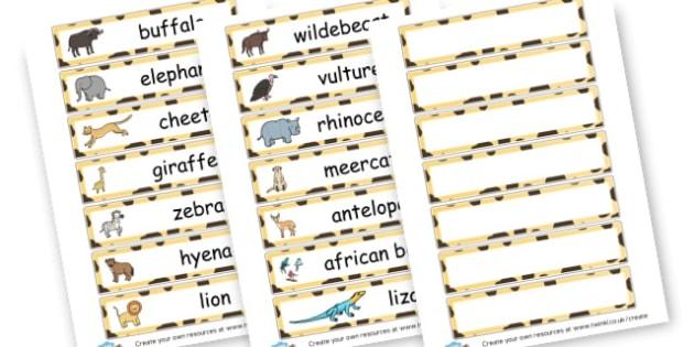 Animal Safari Flashcards - On Safari Literacy Primary Resources, Safari,  Literacy,  Words