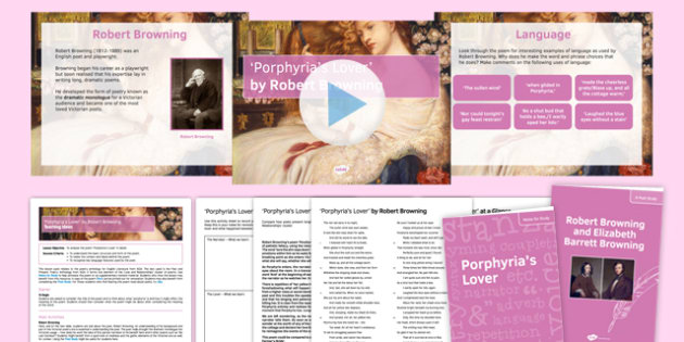 GCSE Poetry 'Porphyria's Lover' Lesson Pack