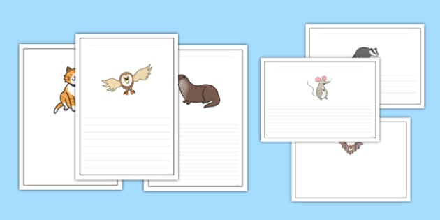 Nocturnal Animals Writing Frames - nocturnal animals, writing frames, writing, frames