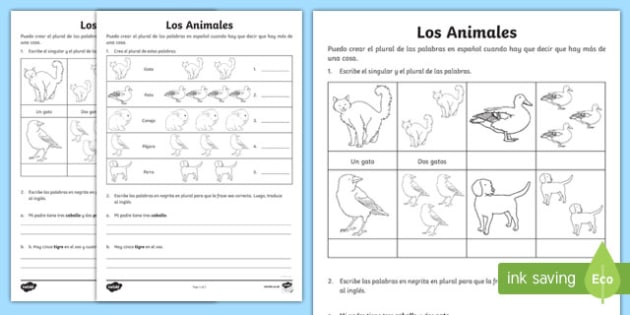 Animals Differentiated Activity Sheets, worksheet