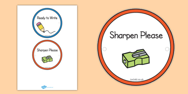 Ready to Write and Sharpen Labels - labels, write, sharpen, ready