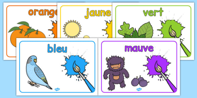 French Colours Posters - poster, displays, display, visual, aid