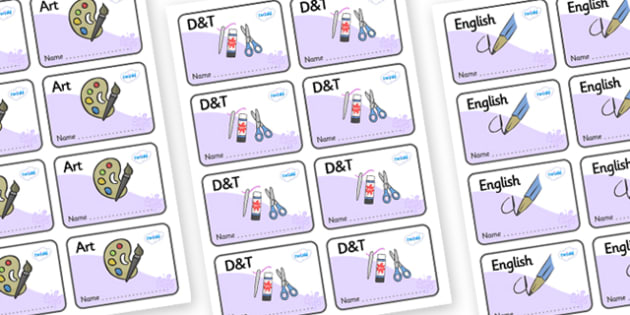 Lilac Themed Editable Book Labels - Themed Book label, label, subject labels, exercise book, workbook labels, textbook labels