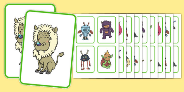 Monster Snap Game - games, turn taking, social communication, working in a group , friendship