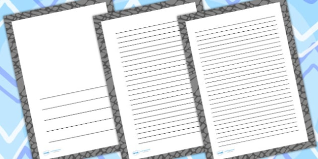 Elephant Skin Page Borders - writing templates, writing frames