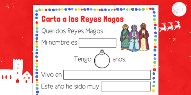 Carta a los Reyes Magos Spanish - spanish, christmas, navidad, carta, letter, wise men, reyes magos, writing