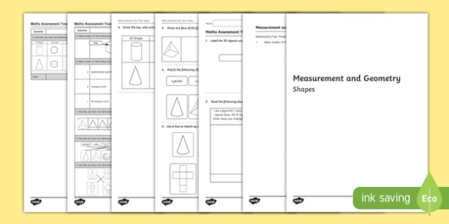 Year 3 Measurement and Geometry Shapes Assessment - australia, year 3, measurement and geometry, measurement, geometry, shapes, assessment