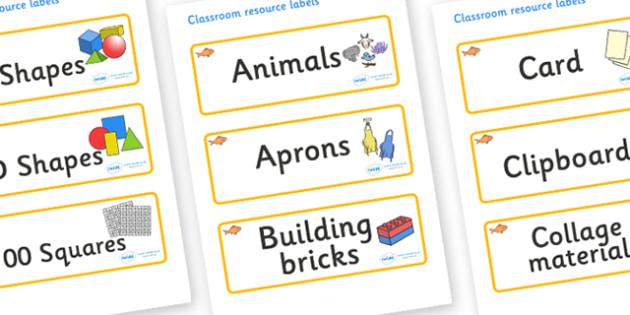 Goldfish Themed Editable Classroom Resource Labels - Themed Label template, Resource Label, Name Labels, Editable Labels, Drawer Labels, KS1 Labels, Foundation Labels, Foundation Stage Labels, Teaching Labels, Resource Labels, Tray Labels, Printable