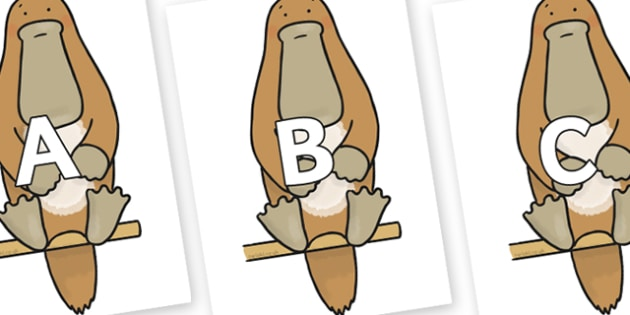 A-Z Alphabet on Platypus to Support Teaching on The Great Pet Sale - A-Z, A4, display, Alphabet frieze, Display letters, Letter posters, A-Z letters, Alphabet flashcards