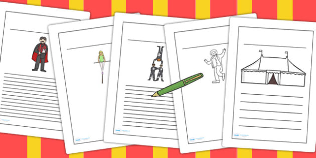 Circus Writing Frames - writing template, writing aid, the circus