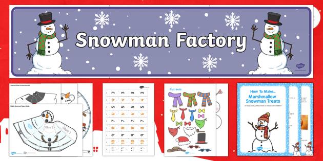 Snowman Factory Resource Pack - Snowman, snowmen, the snowman, winter, Christmas