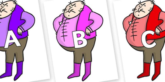 A-Z Alphabet on Boggis to Support Teaching on Fantastic Mr Fox - A-Z, A4, display, Alphabet frieze, Display letters, Letter posters, A-Z letters, Alphabet flashcards