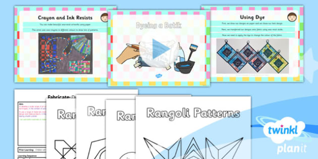 PlanIt - Art KS1 - Fabricate Lesson 6: Dyeing a Batik - planit