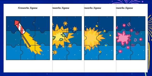 Fireworks Jigsaw Activity Pack