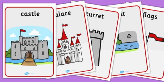 Castles and Knights Display Posters - Knights, Castles, display, banner, poster, Castles and Knights, maiden, castle, tower, dragon, sword, horse, flag, shield, dungeon