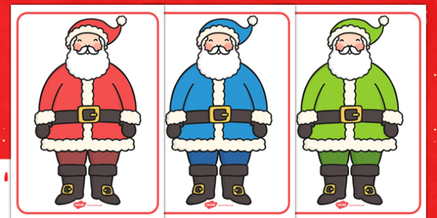 Santa Colour Categorising - colour, categorise, santa, activity