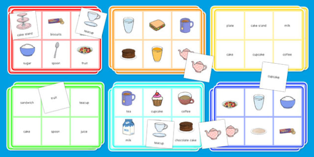 Elderly Care Hydration and Nutrition Week Tea Party Bingo - Elderly, Reminiscence, Care Homes, Hydration and Nutrition Week