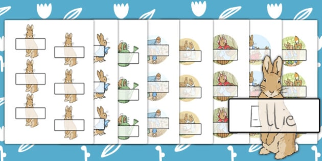 The Tale of Peter Rabbit Editable Self Registration - peter rabbit