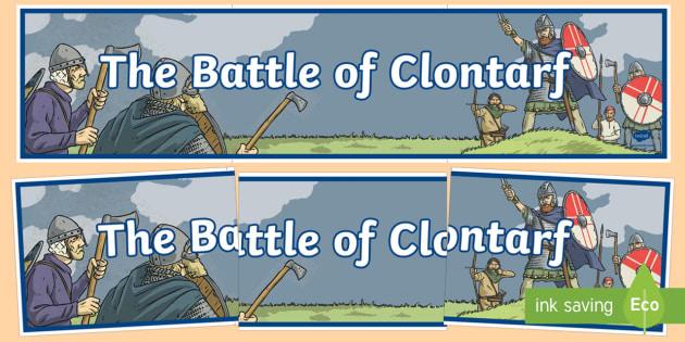 The Battle of Clontarf Display Banner