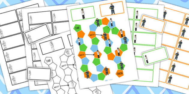 People Who Help Us Themed Editable Board Game - classroom games