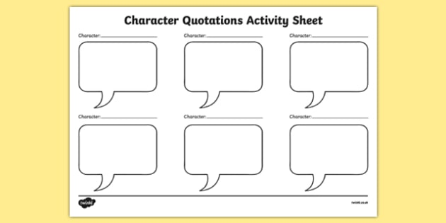 Character Quotations Activity Sheet-Irish, worksheet