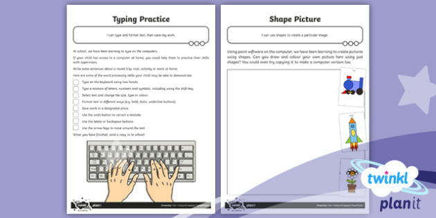 PlanIt - Computing Year 1 - Using and Applying Home Learning Tasks - PlanIt, computing, kS1, key stage 1, Year 1, Year one, Y1, using, applying, homework, home task, rev