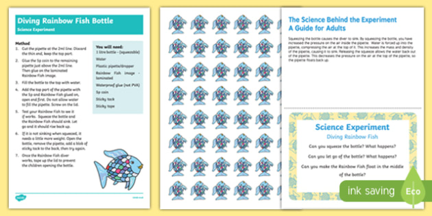 EYFS Diving Fish Science Experiment and Prompt Card Pack