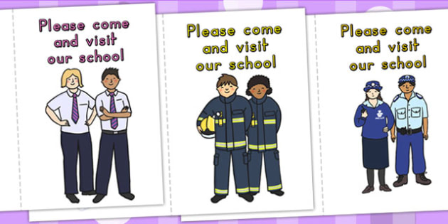 People Who Help Us Please Visit Our School Card Templates - cards