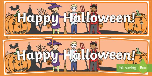 Happy Halloween! Display Banner
