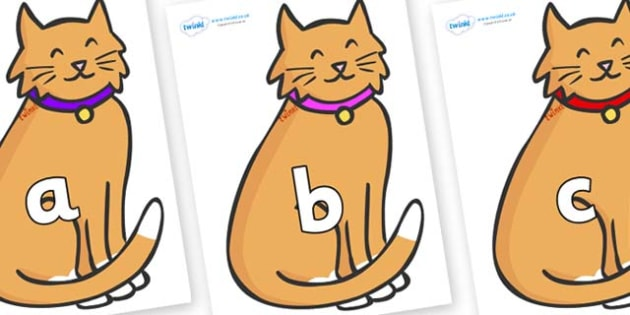 Phase 2 Phonemes on Pussy Cats - Phonemes, phoneme, Phase 2, Phase two, Foundation, Literacy, Letters and Sounds, DfES, display