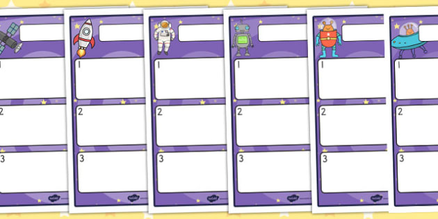 Editable Pupil Target Sheets Space Themed - Edit, Worksheets