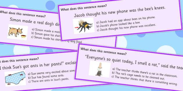 Animal Idioms Sentences Multiple Choice - animal, idioms, choice