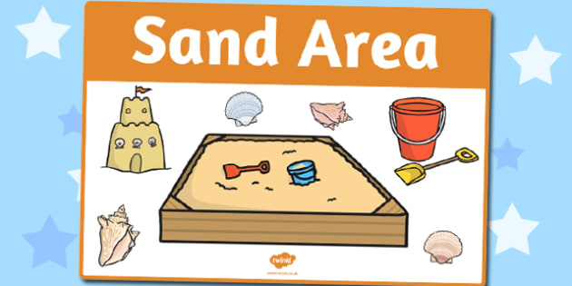 Sand Area Sign - sand area sign, sign, sand, area, classroom, signs