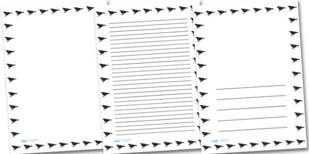 Blackbird Portrait Page Borders- Portrait Page Borders - Page border, border, writing template, writing aid, writing frame, a4 border, template, templates, landscape