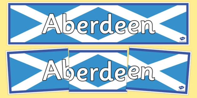 Aberdeen Display Banner - CfE, Social Studies, Towns and Cities, Scottish Cities, Aberdeen