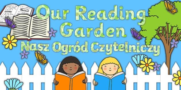 Reading Garden Display Pack Polish Translation - polish, Reading, Garden, Display, Pack