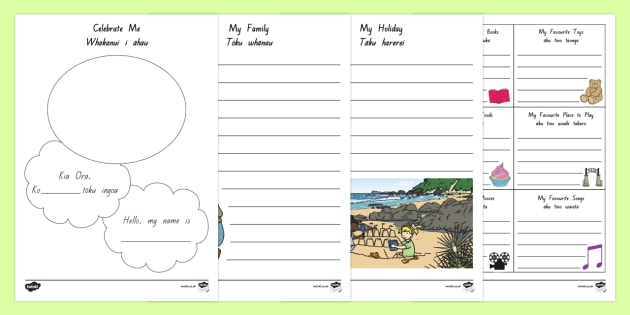 ECE Portfolio Activity Sheets Te Reo Maori/English