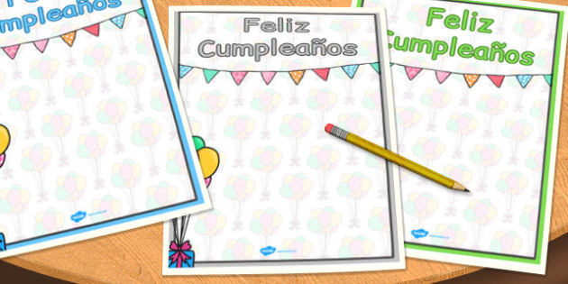 Spanish Happy Birthday Posters - spanish, happy birthday, posters
