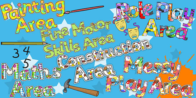 Early Years Areas Display Lettering Variety Pack - display, pack