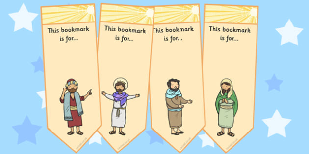 The Conversion of Saul Editable Bookmarks - bookmark, activity, road to damascus