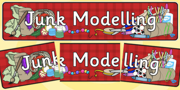 Junk Modelling Display Banner - messy, junk, modelling, model, creative, area, making, art, dt, design