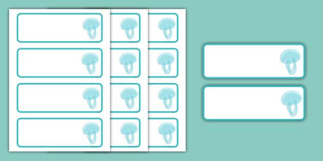 Jellyfish Themed Editable Drawer-Peg-Name Labels (Colourful) - Themed Classroom Label Templates, Resource Labels, Name Labels, Editable Labels, Drawer Labels, Coat Peg Labels, Peg Label, KS1 Labels, Foundation Labels, Foundation Stage Labels, Teachin