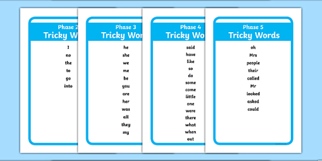 Phase 2 to 5 Tricky Words Tolsby - phase 2, phase 3, phase 4, phase 5, tricky words, tolsby, ikea tolsby, frame
