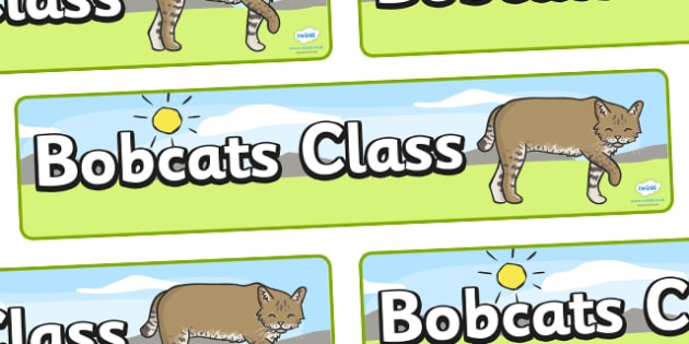 Bobcats Class Display Banner - Bobcats, class, class banner, class display, classroom banner, classroom areas signs, areas, display banner, display