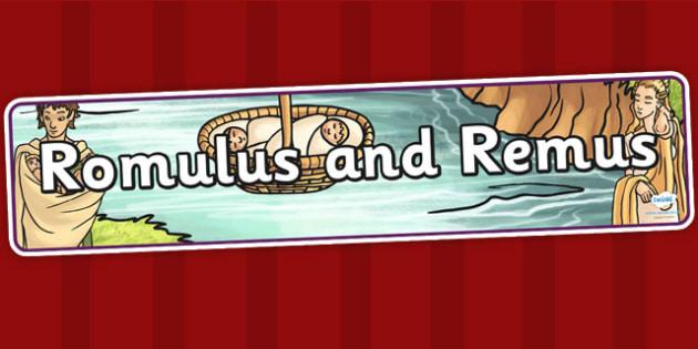 Romulus and Remus Display Banner - romans, roman display, rome