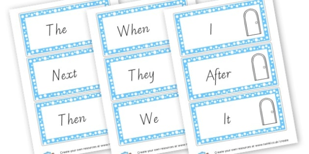 VCOP Opener Word Cards - VCOP Primary Resources, Vocabulary, Connectives, Openers